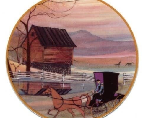 MassanuttenRide-Art-Artist-P Buckley Moss-Canada Goose Gallery-Waynesville, Ohio-Limited Edition-Ornament-Home Décor-Decorating-Gift