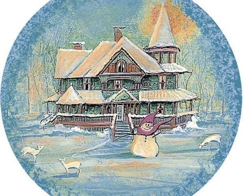 VictoriaWinter-pbuckleymoss-ornament-limitededition-snowman