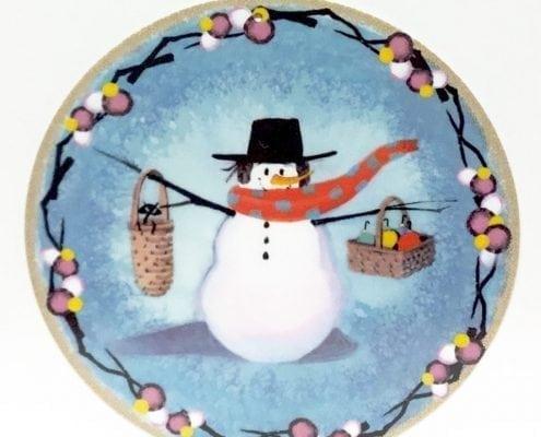 SnoManyBaskets-CanadaGooseGallery-Waynesville-Ohio-pbuckleymoss-ornament-limitededition-snowman-baskets