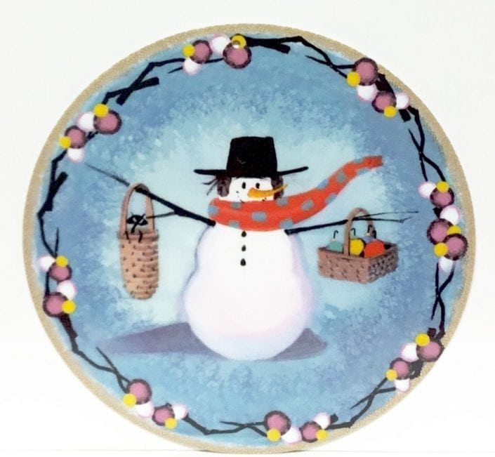 SnoManyBaskets-CanadaGooseGallery-Waynesville-Ohio-pbuckleymoss-ornament-limitededition-snowman-baskets