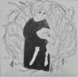CanadaGooseGallery-WaynesvilleOhio-pbuckleymoss-etching-limitededition-lamb