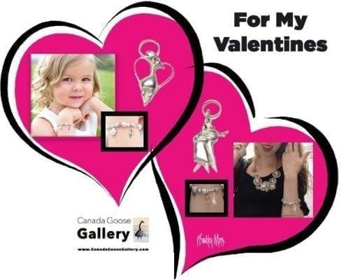CanadaGooseGallery-WaynesvilleOhio-Gifts-PBuckleyMoss-Jewelry-Charms-art-Goose-Valentine-BasketBaby-Skater