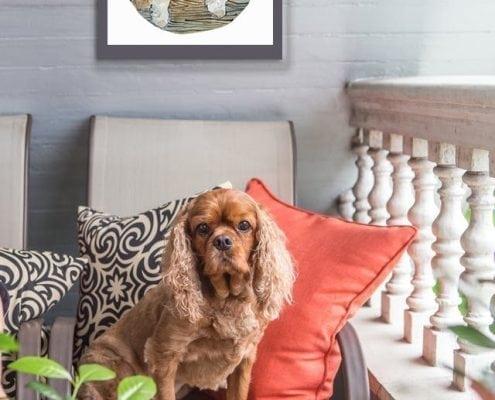 CanadaGooseGallery-WaynesvilleOhio-pbuckleymoss-print-limitededition-art-dog-cocker-love