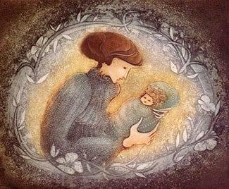 Etching-Limitededition-PBuckleyMoss-Art-Mother-Child