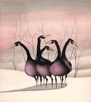 Etching-Limitededition-PBuckleyMoss-Art-geese