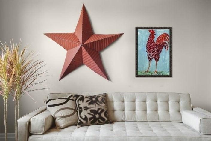 Homeinterior-art-PBuckleyMoss-art-Caliente-limitededition-Swanky-rooster
