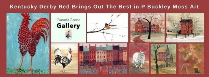 PBuckleyMoss-art-limitededition-horse-Kentuckyderby-prints-birds-lamb-flowers-rowhouses