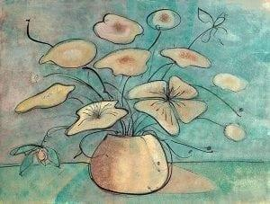 Print-limitededition-Pbuckleymoss-art-Flower-FlowersOnGold