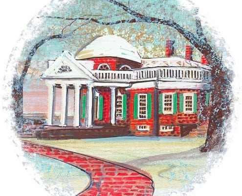 MonticelloMemories-Waynesville-Ohio-PBuckleyMoss-Ornament-LimitedEdition-Art-Summer-Mill-Virginia