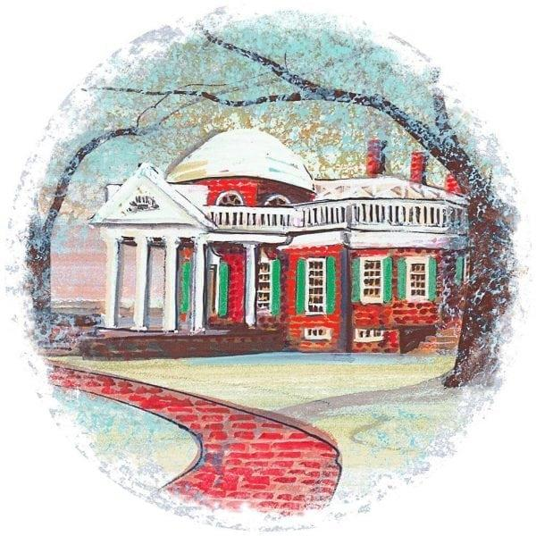 Waynesville-Ohio-PBuckleyMoss-Ornament-LimitedEdition-Art-Summer-Mill-Virginia