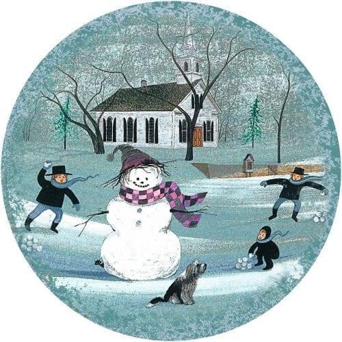ChristmasSnowman-Waynesville-Ohio-PBuckleyMoss-Ornament-LimitedEdition-Art-Snowman-Winter