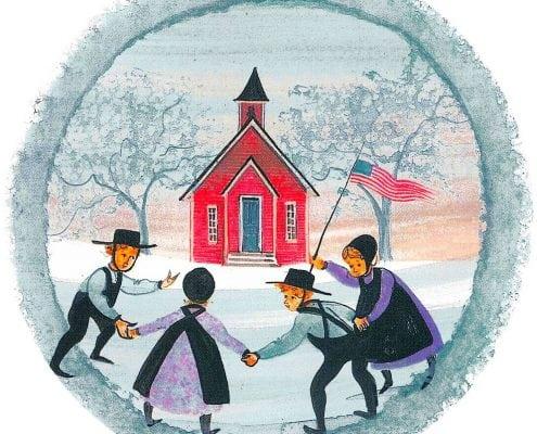 SchoolFriends-Waynesville-Ohio-PBuckleyMoss-Ornament-LimitedEdition-School-Friends-Virginia