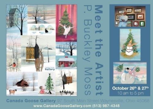 PBuckleyMoss-Snowman-Winter-Event-Signing-SeasonsGreetings-FrostyFriends-art-limitededition-print
