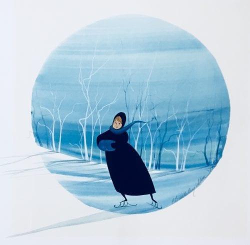 Painting-PBuckleyMoss-Original-Watercolor-painting-Skater