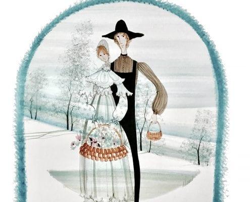 Painting-PBuckleyMoss-Original-Watercolor-Wedding-Couple-Art
