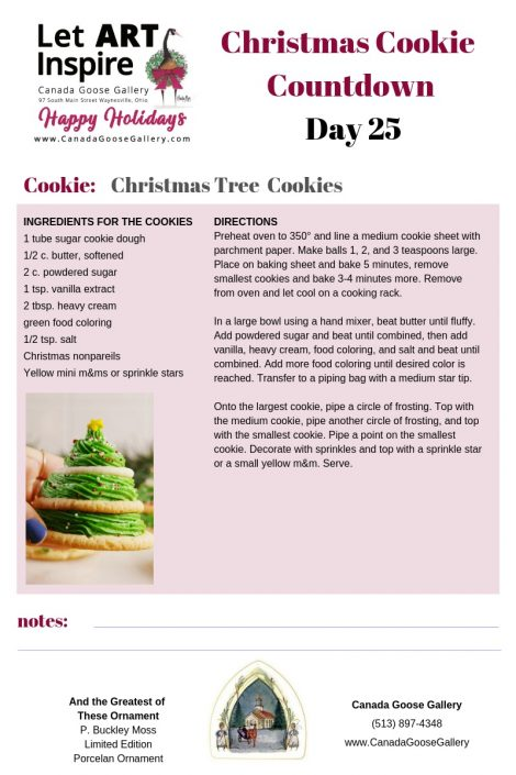 CanadaGooseGallery-Waynesville-Ohio-Cookie-Christmas-PBuckleyMoss-Ornament