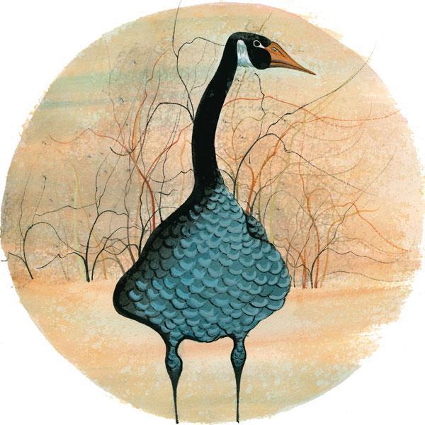 CanadaGooseGallery-Waynesville-Ohio-Goose-PBuckleyMoss-LimitedEdition-Print-Art-Artist-Geese-Trees