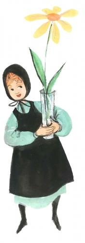 Little Marguerite limited edition print by P Buckley Moss is printed in respect to all P.E.O. groups across the country for their work in assisting women in education.