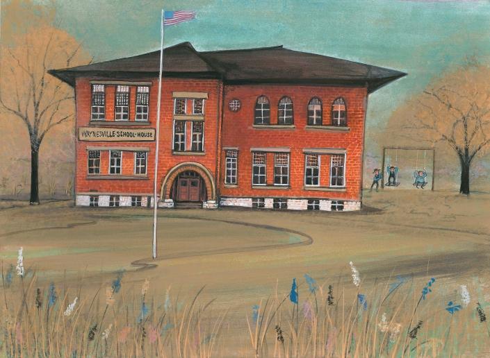 PBuckleyMoss-Waynesville-Ohio-CanadaGooseGallery-Art-Artist-LimitedEdition-SchoolHouse-History