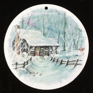 AllRoadsLeadHome-PBuckleyMoss-Waynesville-Ohio-CanadaGooseGallery-Art-Artist-LimitedEdition-Porcelain-Ornament-Gift-HomeDecor-ChristmasTree-Decoration