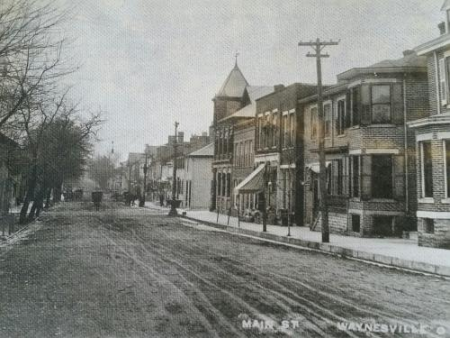 Waynesville Ohio North Main Street early 1900's