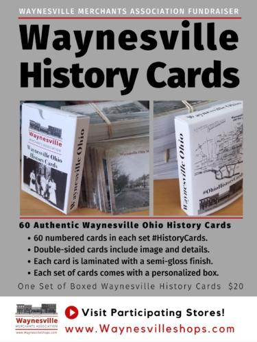 Ohio HIstory day is celebrated in Waynesville Ohio with a boxed set of history cards