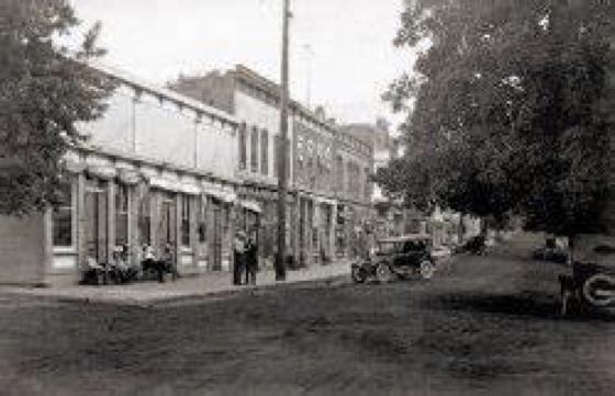 Main street in Waynesville Ohio late 1800's
