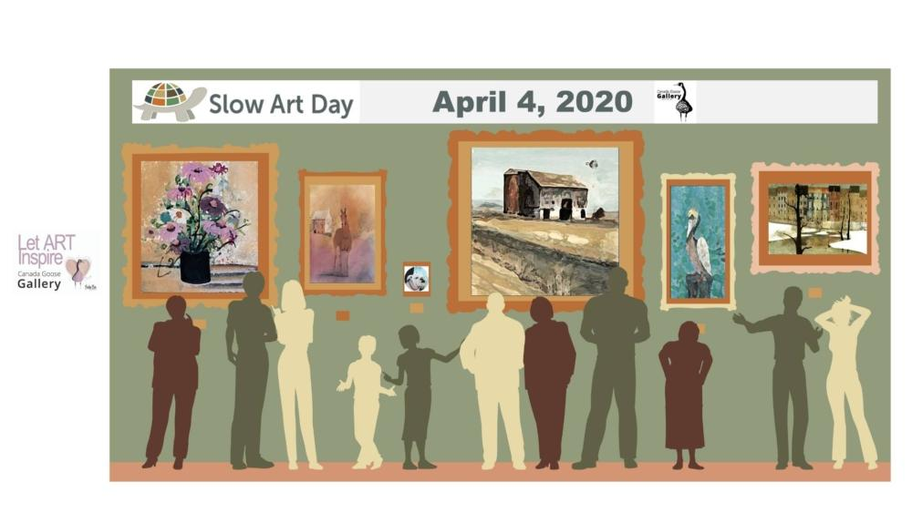 Slow Art Day is a day to frequent your favorite art gallery and just leisurely browse the art you see there. Take time to ask questions and ponder over what the artist is trying to say to its viewers.