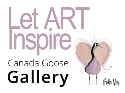 Art inspires us and stimulates us every day even wher we are not aware that inspiration is taking place. P Buckley Moss art, goose in front of a heart with soft colors. Canada Goose Gallery
