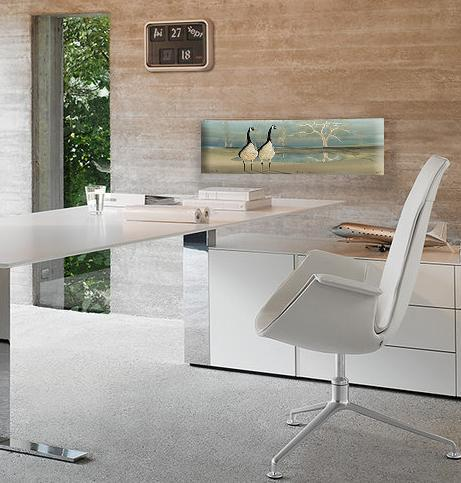 Office art by P Buckley Moss features and artistic way of bringing inspiration to your workspace.