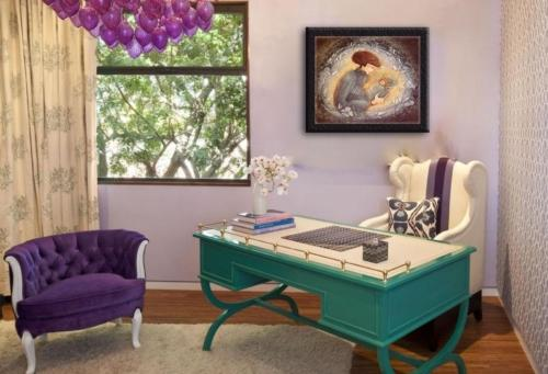 Office art by P Buckley Moss features an artistic way of bringing inspiration to your workspace.