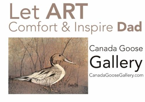 Art Inspiration by American Artist, P Buckley Moss at Canada Goose Gallery in Waynesville, Ohio. Nesting, Duck limited edition print in shades of tans, brown cream and a touch of mauve.