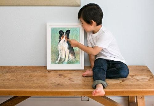 Friend For Life framed art by P Buckley Moss for Father's Days. Let the kids give dad something really inspirational for his office or man cave.