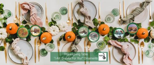 Autumn Thanksgiving table decoration setting for Fall gathering