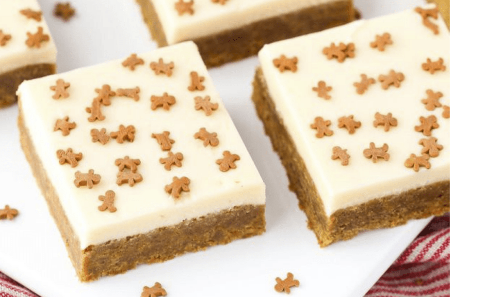 Caramel-Gingerbread Cookie Bars