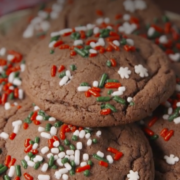 Peppermint Pattie-Stuffed Chocolate Cookies