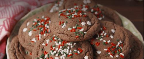Peppermint Pattie-Stuffed Chocolate Cookies