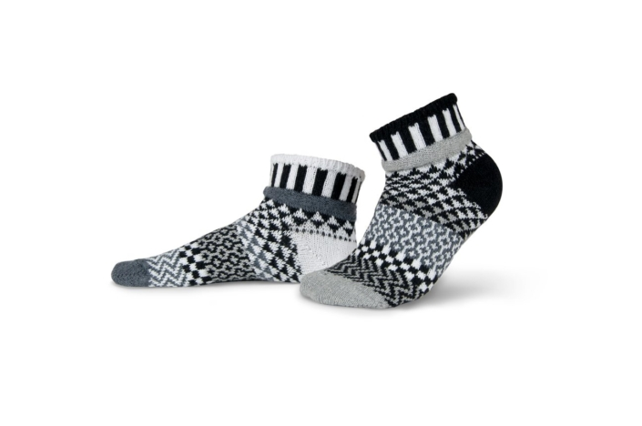 Solmate Midnight Quarter Socks, large inventory in Ohio, will ship, crew, quarter, ankle, knee, blankets, caps, scarves.