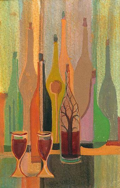 moden-art-print-p-buckley-moss-wine-bottles-and-glasses