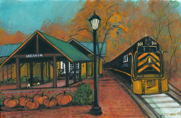 Lebanon Mason Monroe Railroad limited edition print features the train that runs through Lebanon, Ohio.